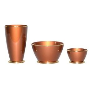 真鍮 仏具 セット ひびき 3具足 古銅色