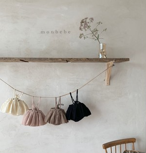 【予約販売】natural cancan bloomers 【baby】〈monbebe〉