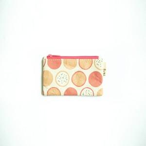 Ashi|亜紙 Flat Pouch S*Dragon Fruit 紙ポーチ フルーツ柄 ハンドメイド