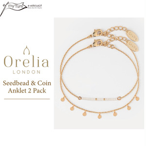 【Orelia】Seedbead & Coin Anklet 2 Pack