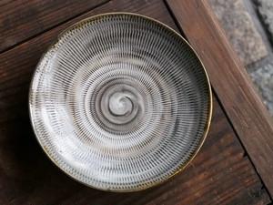 小鹿田焼 6寸平皿