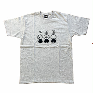 RdStaキャラクターTシャツ グレー×ブラック RD-1904