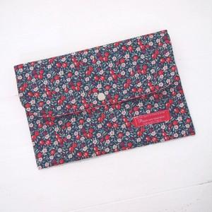 リバティ 母子手帳ケース ウィンベリー/レッド&パープル Lサイズ