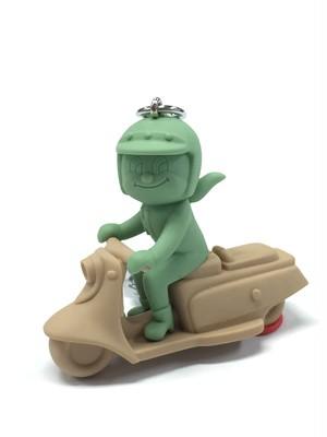 ウサギ301バイク 茶×緑系