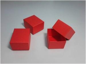 紙箱/ギフトボックス(極小-赤)6個入