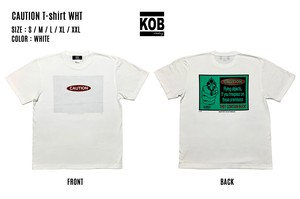 CAUTION T-shirt WHT
