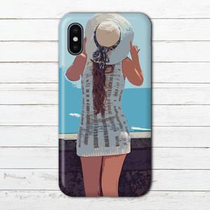 iPhoneケース スマホケース 女の子 セクシー エクスペリア iPhoneXS/X Xperia iPhone5/6/6s/7/8 ケース おしゃれ メンズ ARROWS AQUOS タイトル:夏のバカンス