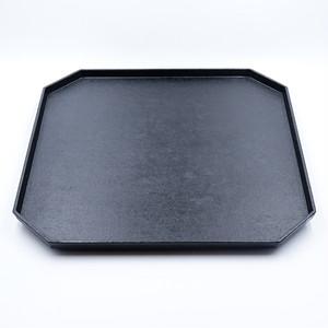 和紙貼八角盆(正方形) 黒【蝶野秀紀】