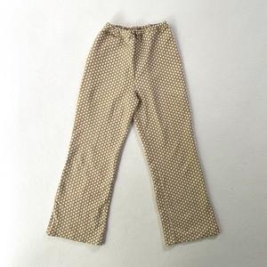 skin color dot polyester pants
