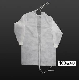 不織布製アイソレーションガウン(100枚入り)