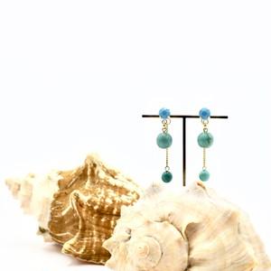 Howlite Turquoise/ハウライト ターコイズ ピアス S15-31TU