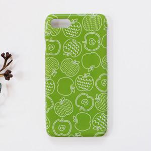 グリーンアップル りんご 北欧 スマホケース/スマホカバー iPhone/android/Galaxy/Xperia/AQUOS/Huawei