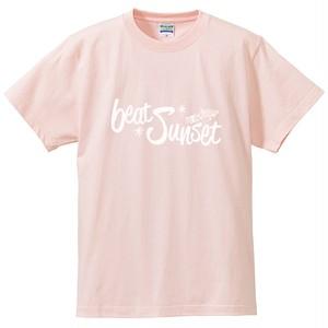 ロゴTシャツ(ベビーピンク×白)