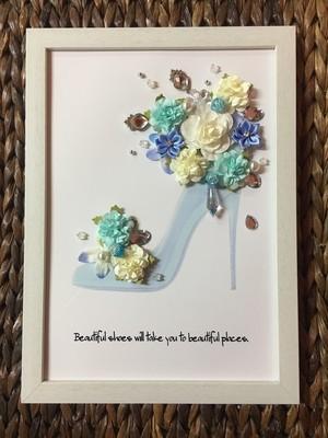 メッセージフラワーパネルシリーズ(幸せのガラスの靴)