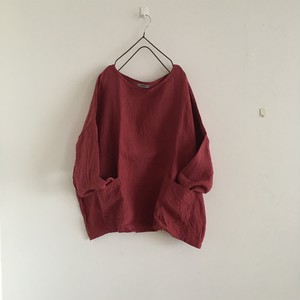 drop shoulder pullover  赤