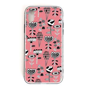 【Flowers】 強化ガラス仕上げ phone case (iPhone)