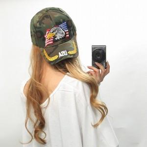 イーグル刺繍×迷彩/ミリタリーCAP/キャップ/帽子
