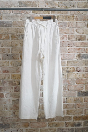 NOWOS /  military  twill easy pants (white)