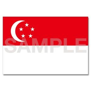世界の国旗ポストカード <アジア> シンガポール共和国 Flags of the world POST CARD <Asia> Republic of Singapore