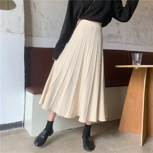 フレアニットロングスカート S2956