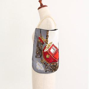 【一点もの】No.14スカーフで作ったプチバッグ