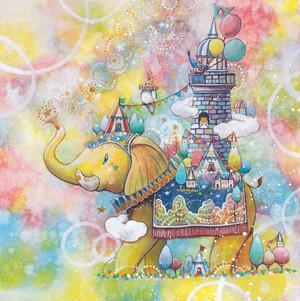 Yosi原画「しあわせな世界を願いながら」