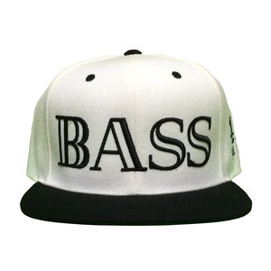BASS 40Hz Snapback Cap White×Black 6Panel - iDonStore