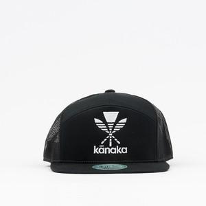 Homegrown Kanaka Embroidery Flatbill Hat【ホームグロウン ハワイアン】ブラック カナカ エンボイドリー フラットビル ハット