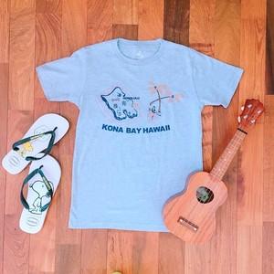 【kona bay Hawaii】 オアフ島Tシャツ/ユニセックス