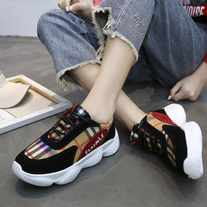 【sneakers】Korean style student casual check running  sneakers