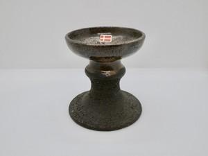 LEHMANN Keramik(レーマン ケラミック)  ブラウンのキャンドルスタンド