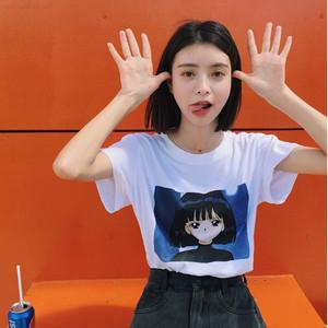 【トップス】シンプルルーズカートゥーン美少女戦士セーラームーンTシャツ