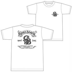 アメリカンビーバーTシャツ【ホワイト】