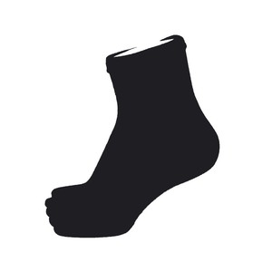 Inner-Fact 5Finger Middle Socks (Black)