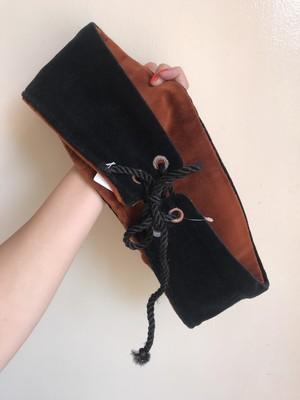 Vintage black × brown bi-color reversible belt ( ヴィンテージ ブラック × ブラウン バイカラー リバーシブル ベルト