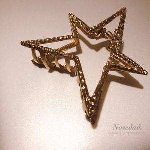 open STAR hair clip