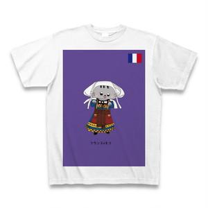 民族衣装Tシャツ  フランスxネコ