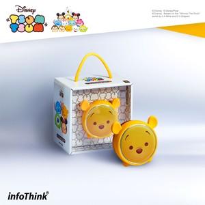InfoThink Bluetoothスピーカー Disney ディズニー ツムツム LEDライト 5V/0.5A くまのプーさん IT-BSP100-Pooh
