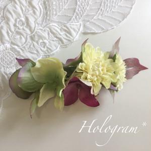 フラワーバレッタ*黄色いお花