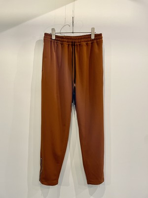 T/f G3 ponte fabric zip track pants - dark brick