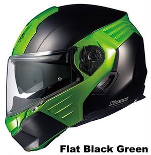 OGK KAZAMI Flat-black-green