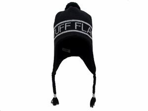 """KNIT CAP""""F-LAGSTUF-F"""" BLACK"""