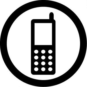 携帯電話の使用許可マークのカッティングステッカー