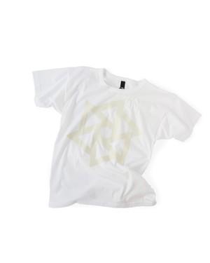 Tシャツ1号 「鱗廻(りんね)」 白に白