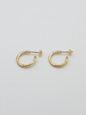<7/18 発売>raw hoop pierce s gold