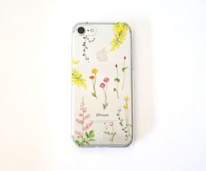 明るい花たちのiPhoneクリアケース