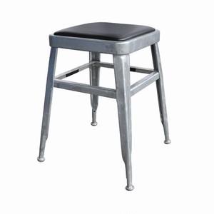 【113-300GV】Light-45 stool [Color:Galvanized] #スツール #クッション #ヴィンテージ
