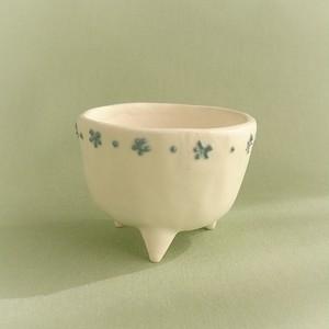 三つ足ミニ盆栽鉢(半磁器土)