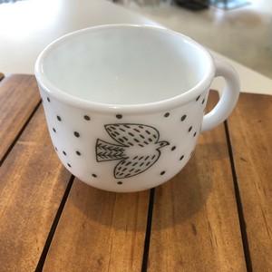松尾ミユキ Milk Glass Bird Dot Cup (MM219)