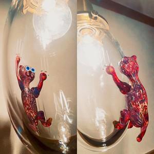 受注制作『太陽が気になる猫』ガラスライト/ペンダントライト/E17ソケット